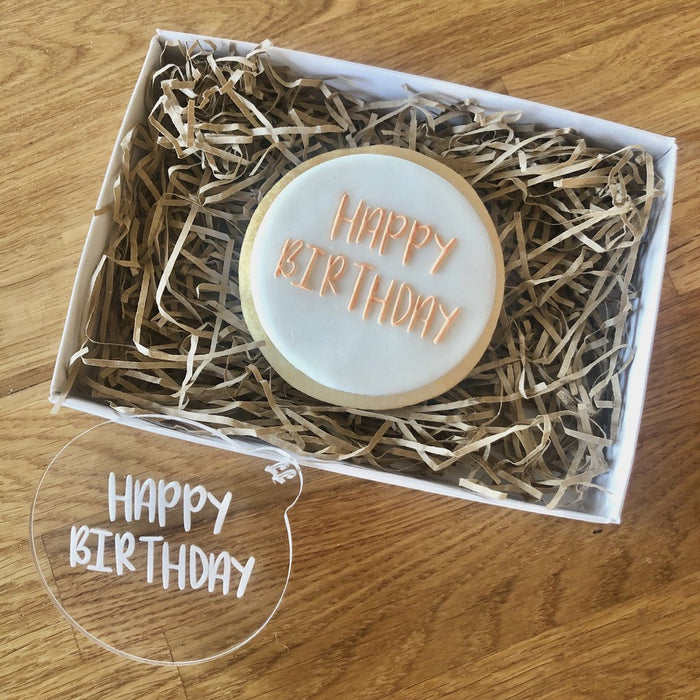 Happy Birthday Sunny Font Cookie Embosser by Lissie Lou