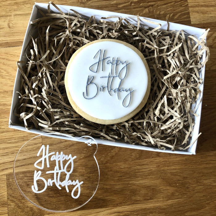 Lissie Lou - Happy Birthday Cookie Embosser