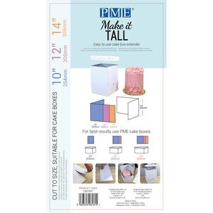 MAKE IT TALL CAKE BOX EXTENDER (FOR 10, 12, 14 INCH BOX)