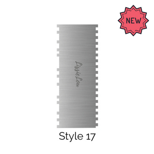 Style 17 Metal Double Edged Cake Scraper by Lissie Lou