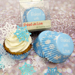 Baked With Love- Snowflake cupcake Cases