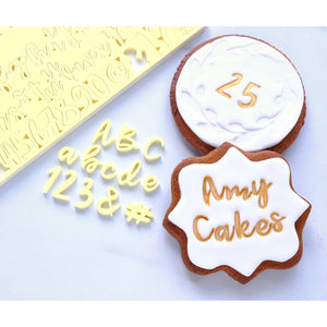 Cookie set Letters upper and lower case and numbers embossing set