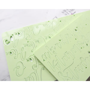 Curly style Letters upper and lower case embossing set