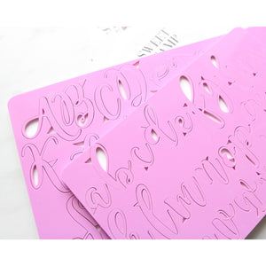 Elegant style. Letters upper and lower case embossing set
