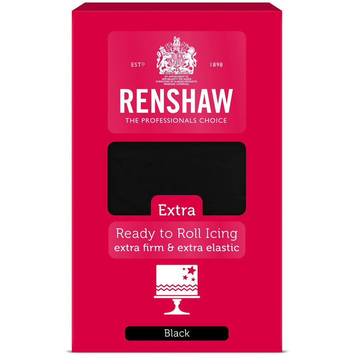 Renshaw Extra - Ready To Roll Black Sugar Paste - 1Kg
