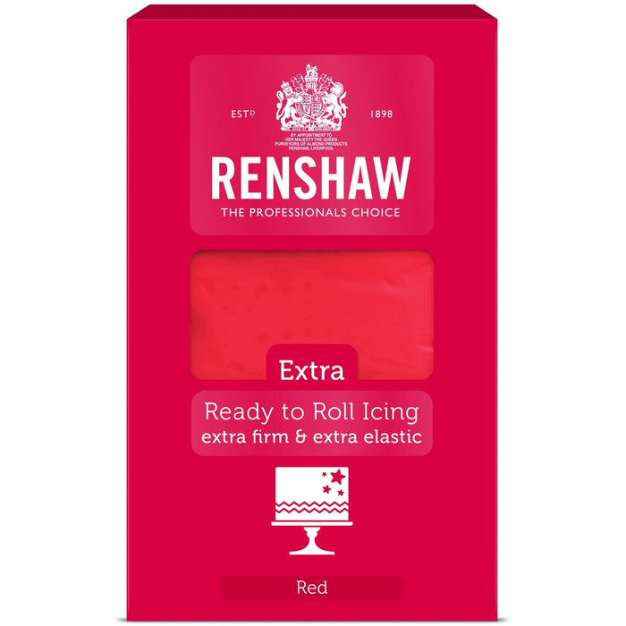 Renshaw Extra - Ready To Roll Red Sugar Paste - 1Kg