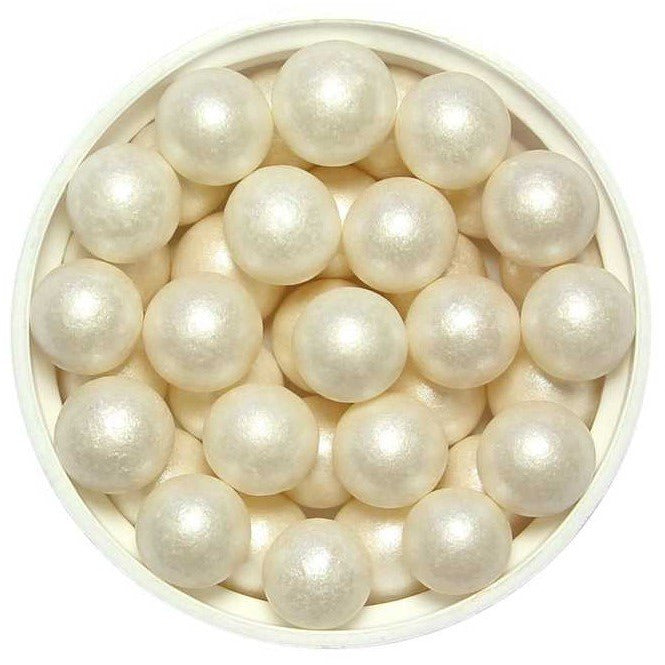 PME Large White Sugar Pearls