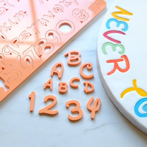 Magic style Letters upper and lower case and numbers embossing set