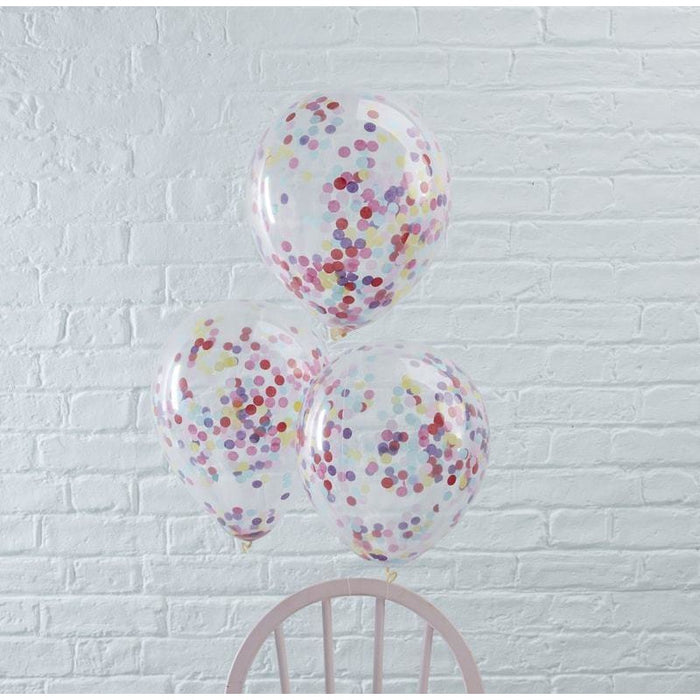 Ginger Ray Confetti Balloons - Mixed Small