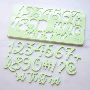 Numbers embossing set, Curly