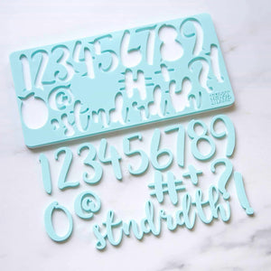 Numbers embossing set, Handwritten