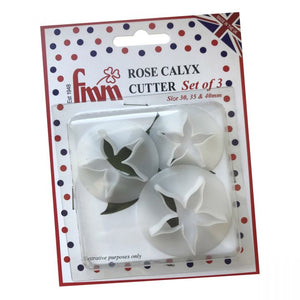 FMM Rose Calyx Set Of 3 Cutters
