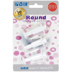 PME Round Plunger Cutter - Set Of 3