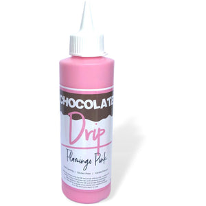 Chocolate Drip Flamingo Pink