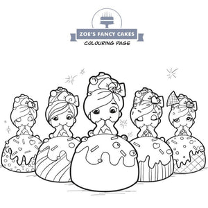 Free colouring page from Zoe's Fancy Cakes
