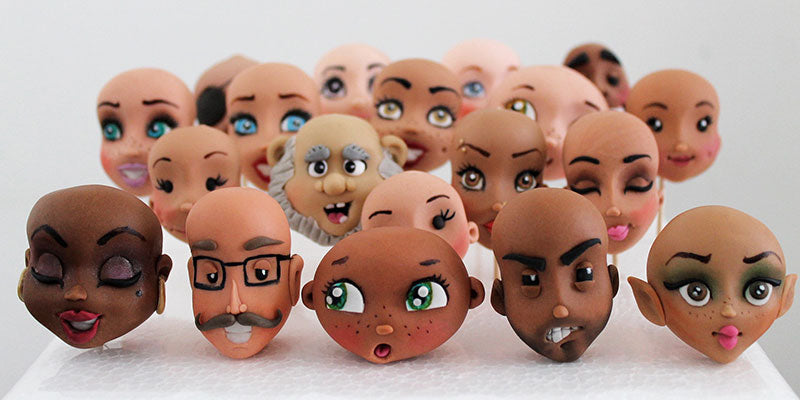 How to make sugar craft faces