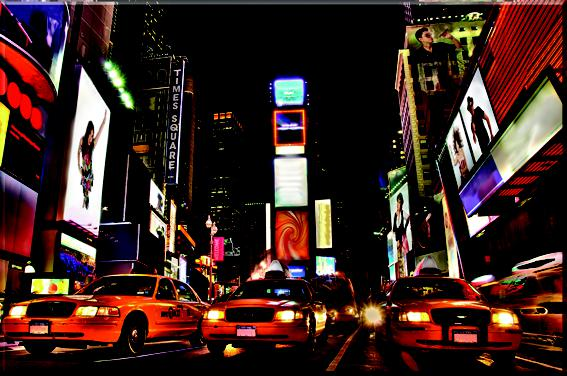 New York City Cab LED Frame - Whatever Gift