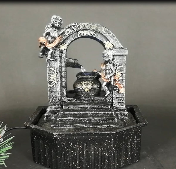 WATER FEATURE-TABLETOP WATER FOUNTAIN Angel Tabletop Fountain - Whatever Gift