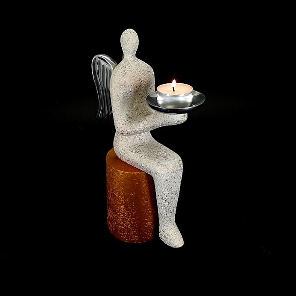 Sitting Angel With Stone Stool (ANGEL COLLECTION GIFT) - Whatever Gift