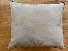 "Pillow, hand-embroidered   19"" x 15.5"""