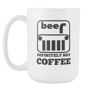 Not Coffee but Beer Mug - The Fugly Mug Company