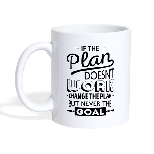 Change the Plan Motivational Mug - The Fugly Mug Company