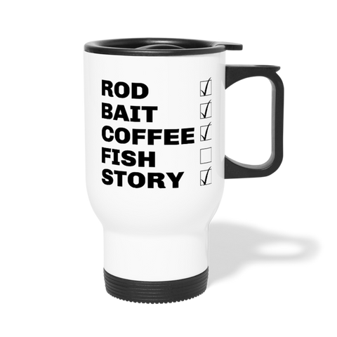 Fishing Checklist Travel Mug - The Fugly Mug Company