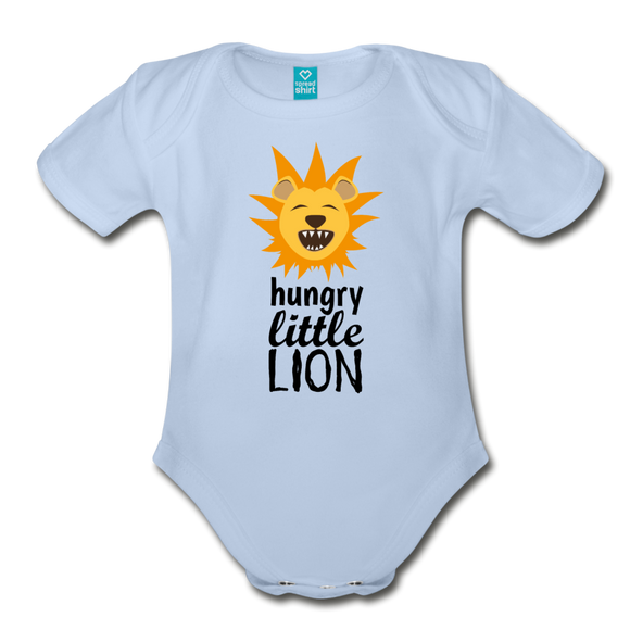 Hungry Lil Lion Organic Short Sleeve Baby Bodysuit - The Fugly Mug Company