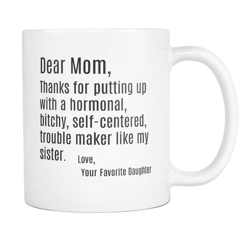 Dear Mom & Dad Mugs - The Fugly Mug Company
