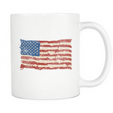 Vintage Feel US Flag Mug - The Fugly Mug Company
