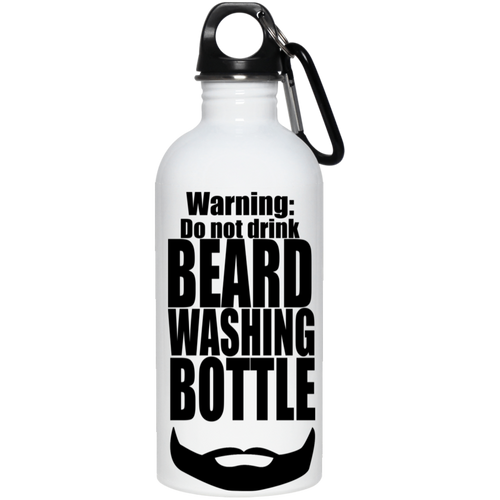 Beard Washing Stainless Steel Water Bottle - The Fugly Mug Company