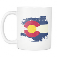 Load image into Gallery viewer, Destroyed Look Colorado Flag Mug - The Fugly Mug Company