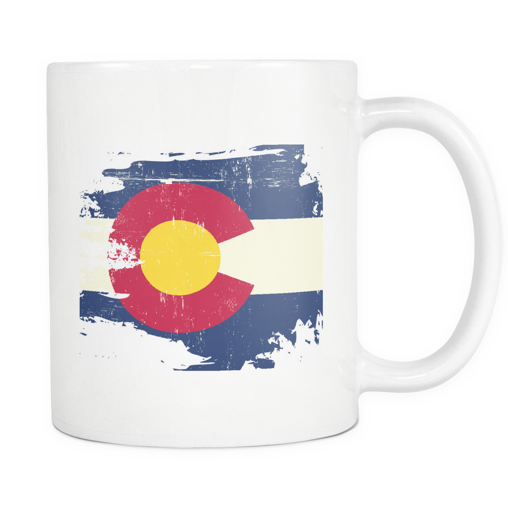 Destroyed Look Colorado Flag Mug - The Fugly Mug Company