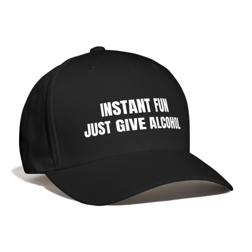 Give Alcohol For Fun Baseball Cap - The Fugly Mug Company