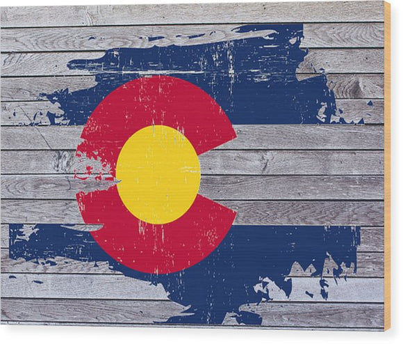Colorado Flag On Wood - Wood Print - The Fugly Mug Company