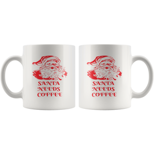 Santa Needs Coffee - The Fugly Mug Company