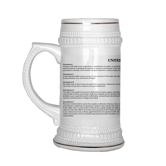 US Bill of Rights Beer Stein