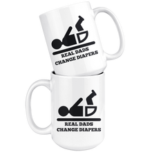 Load image into Gallery viewer, Real Dad Change Diapers Mug - The Fugly Mug Company