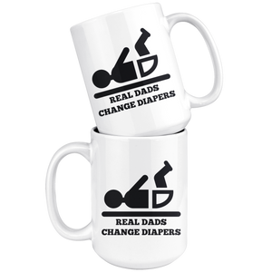 Real Dad Change Diapers Mug - The Fugly Mug Company