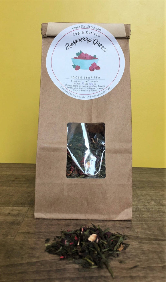 Raspberry Green Tea 3 oz Bag - The Fugly Mug Company