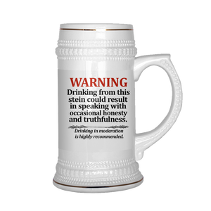 Stein Warning Beer Stein - The Fugly Mug Company