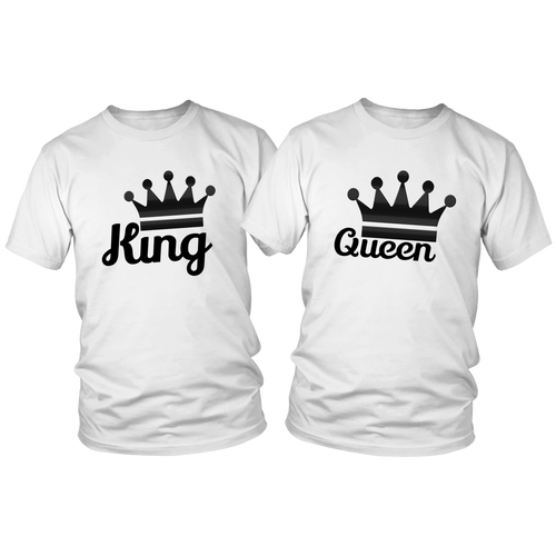 King and Queen His and Hers T-Shirt Set - The Fugly Mug Company