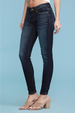 Dark Wash Mid Rise Denim