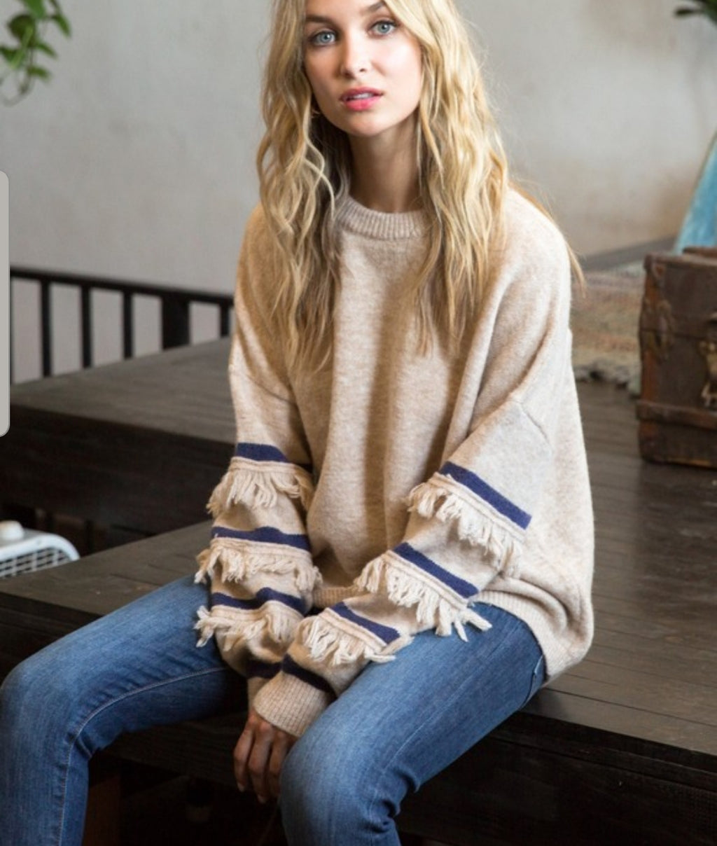 All That Fringe Detail Sweater