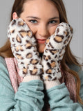 Pop-Top Furry Mittens - Leopard