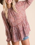 Bella Boho Sheer Floral Top