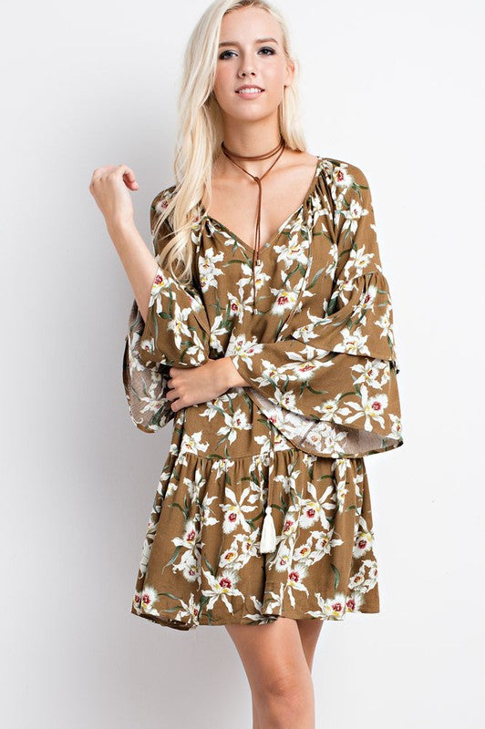 Lovely Lady Floral Print Dress