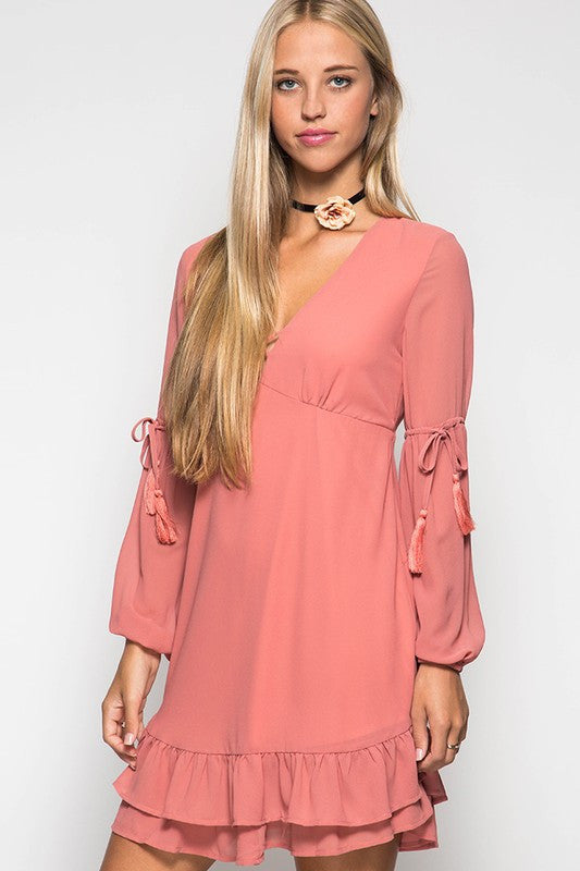 Sweet Surprise Tassel Dress
