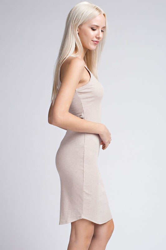 Slit Back Midi Dress