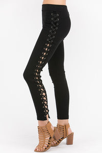 Lace-Up Skinnies